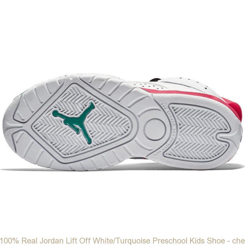 116db4d1732d 100% Real Jordan Lift Off White Turquoise Preschool Kids Shoe – cheap ...