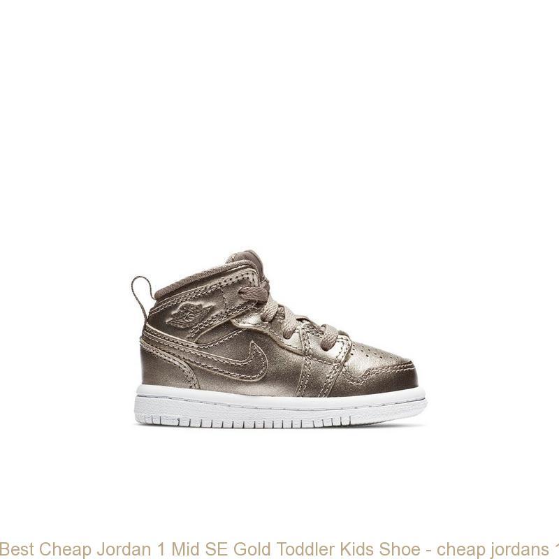 san francisco ba4a6 95a2c Best Cheap Jordan 1 Mid SE Gold Toddler Kids Shoe - cheap jordans 11 red -  S0392