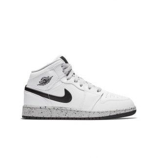 67b49946d6 Best Cheap Jordan 1 Mid White/Grey Grade School Kids Shoe – buy cheap  jordans from china – R0288