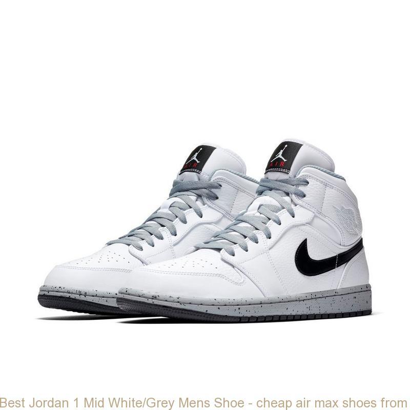 Best Jordan 1 Mid White\/Grey Mens Shoe \u2013 cheap air max ...