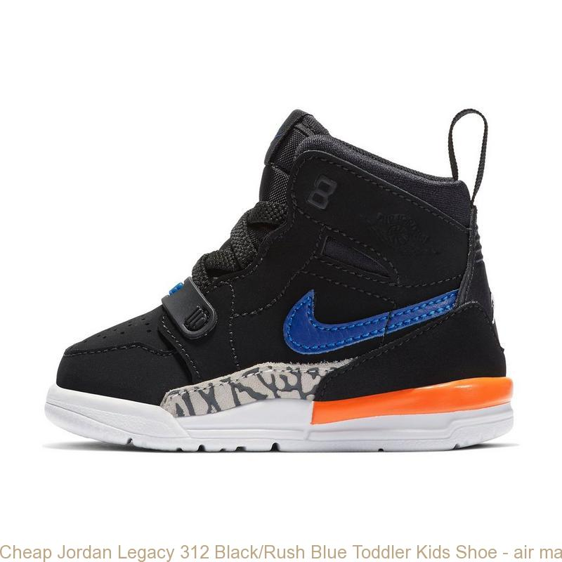 d0d260300ae46 Cheap Jordan Legacy 312 Black/Rush Blue Toddler Kids Shoe – air max ...