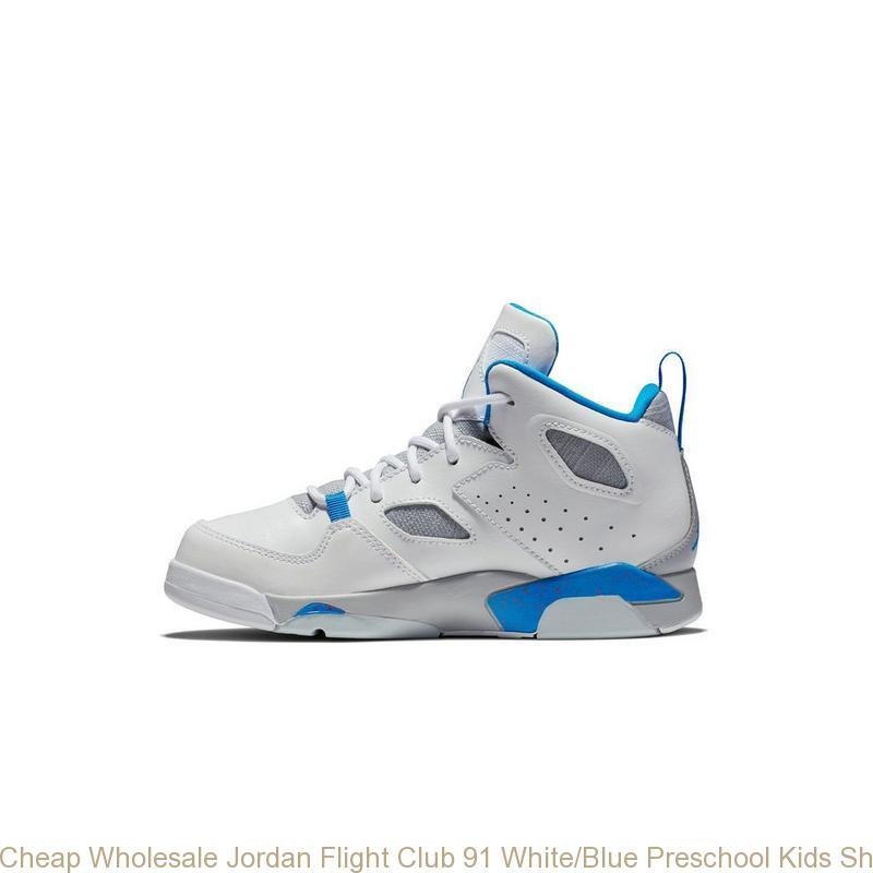 sports shoes 7e7ae b55e0 Cheap Wholesale Jordan Flight Club 91 White Blue Preschool Kids Shoe – cheap  jordans wholesale free shipping ...