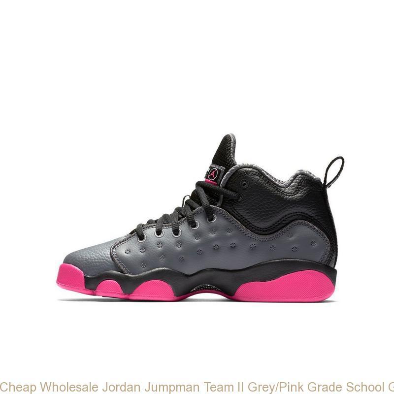 4672a13a Cheap Wholesale Jordan Jumpman Team II Grey/Pink Grade School Girls Shoe – cheap  jordans ...