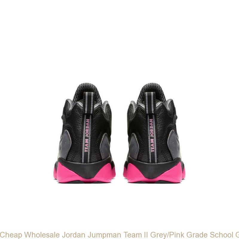3fcd4c8aa0b66 Cheap Wholesale Jordan Jumpman Team II Grey Pink Grade School Girls Shoe – cheap  jordans ...
