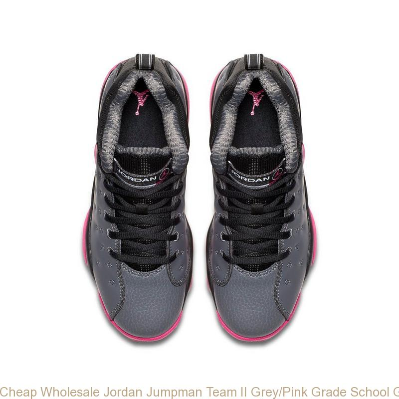 Cheap Wholesale Jordan Jumpman Team II Grey Pink Grade School Girls ... 3069853e4