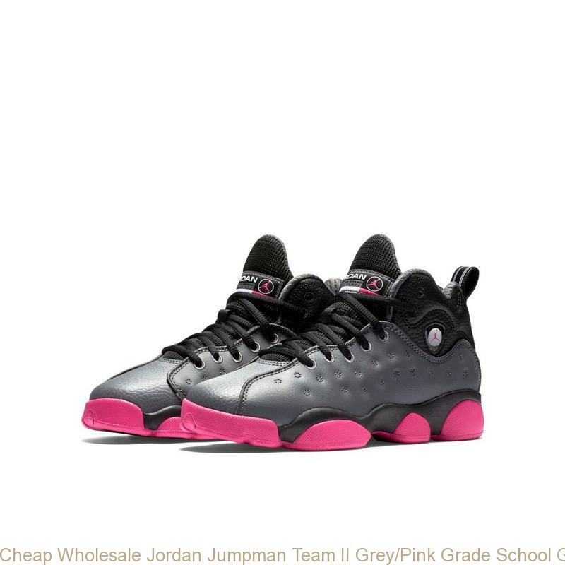 645a46c20140 Cheap Wholesale Jordan Jumpman Team II Grey Pink Grade School Girls Shoe ...
