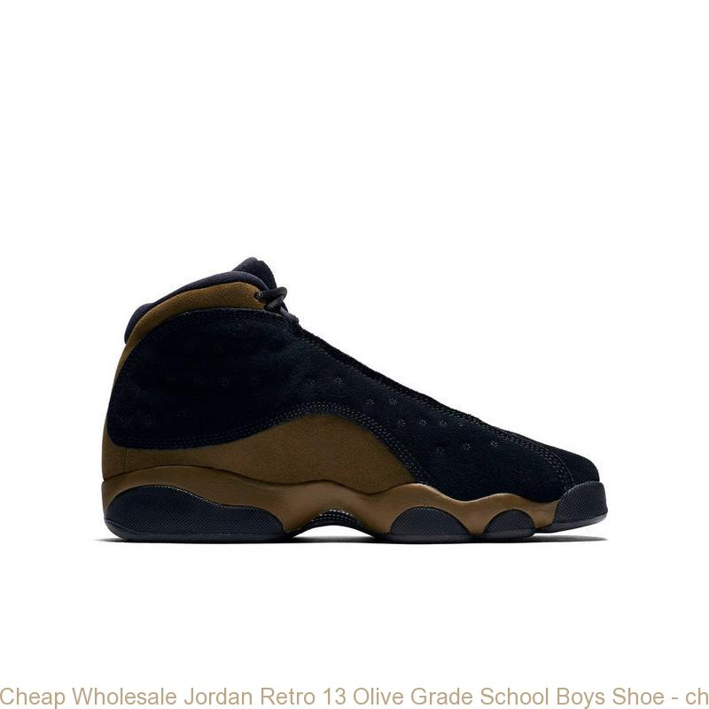 8f9f22d87 Cheap Wholesale Jordan Retro 13 Olive Grade School Boys Shoe – cheap ...