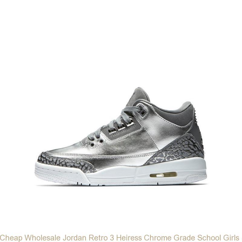new style aea05 8e25a Cheap Wholesale Jordan Retro 3 Heiress Chrome Grade School Girls Shoe -  cheap white jordan shoes - S0044C