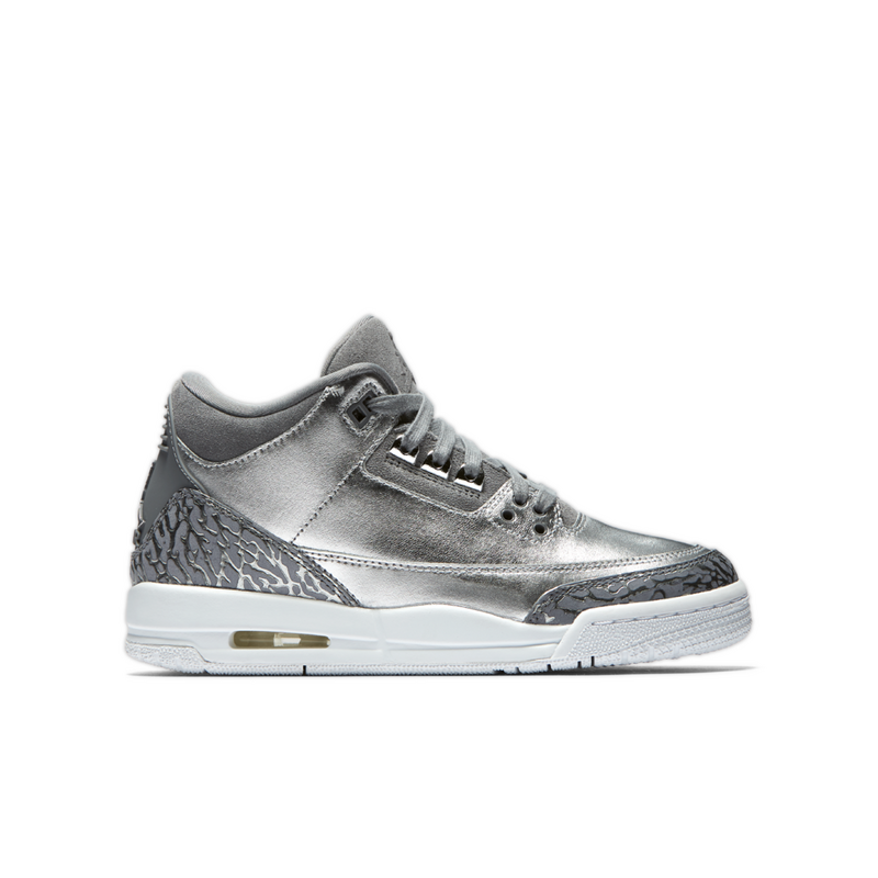 new style 8395e 6d9a1 Cheap Wholesale Jordan Retro 3 Heiress Chrome Grade School Girls Shoe -  cheap white jordan shoes - S0044C
