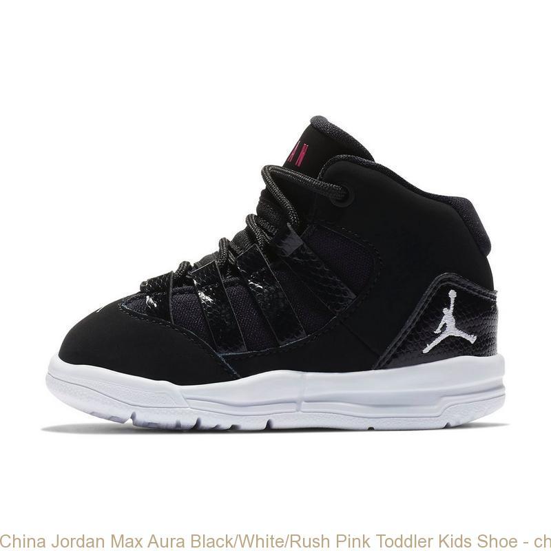 China Jordan Max Aura BlackWhiteRush Pink Toddler Kids Shoe cheap nike shoes under 50 dollars S0239