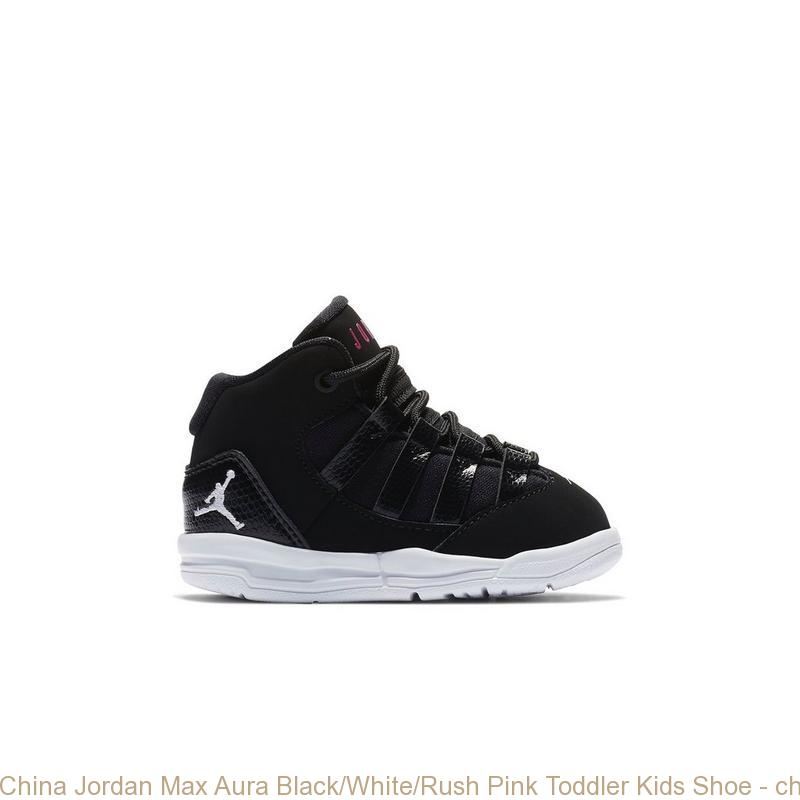 China Jordan Max Aura BlackWhiteRush Pink Toddler Kids Shoe cheap nike shoes under 50 dollars S0239