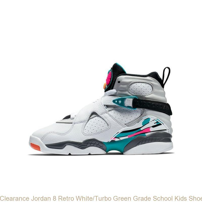 hot sale online 07995 92386 Clearance Jordan 8 Retro White/Turbo Green Grade School Kids Shoe - cheap  exclusive jordans - R0368