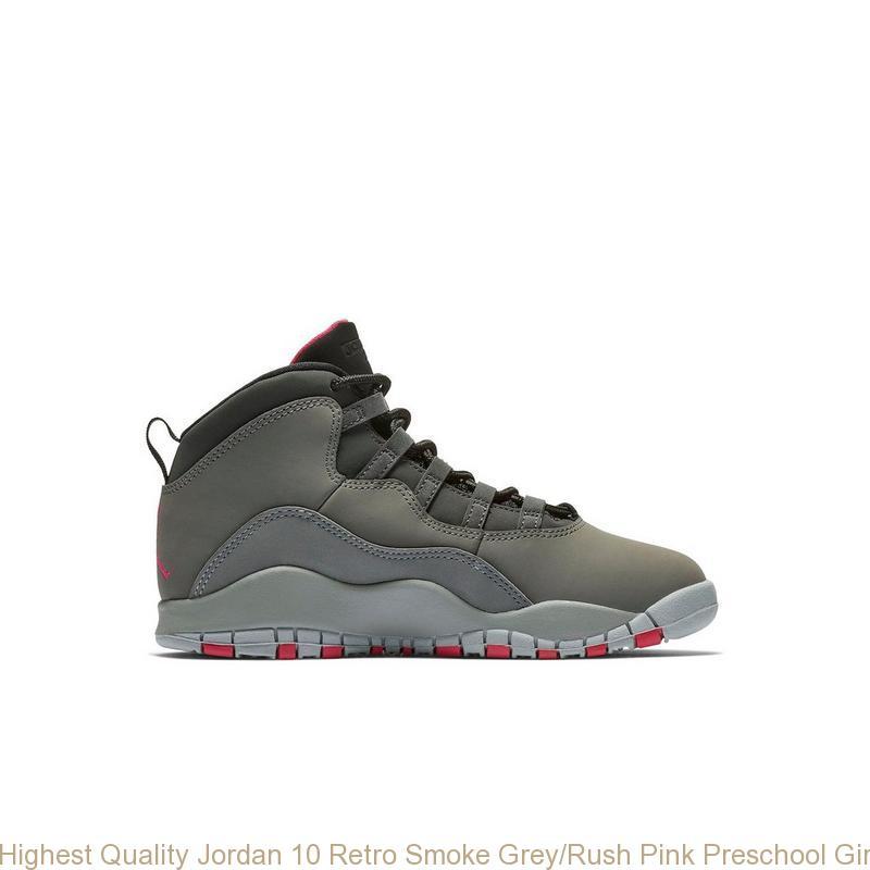 timeless design 33bf4 f3f78 Highest Quality Jordan 10 Retro Smoke Grey/Rush Pink Preschool Girls Shoe -  cheap jordans shoes - S0372