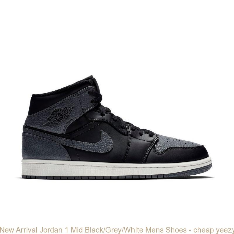 buy online 1811c 578d2 New Arrival Jordan 1 Mid Black/Grey/White Mens Shoes - cheap yeezys size 3  - 5270ZBGW