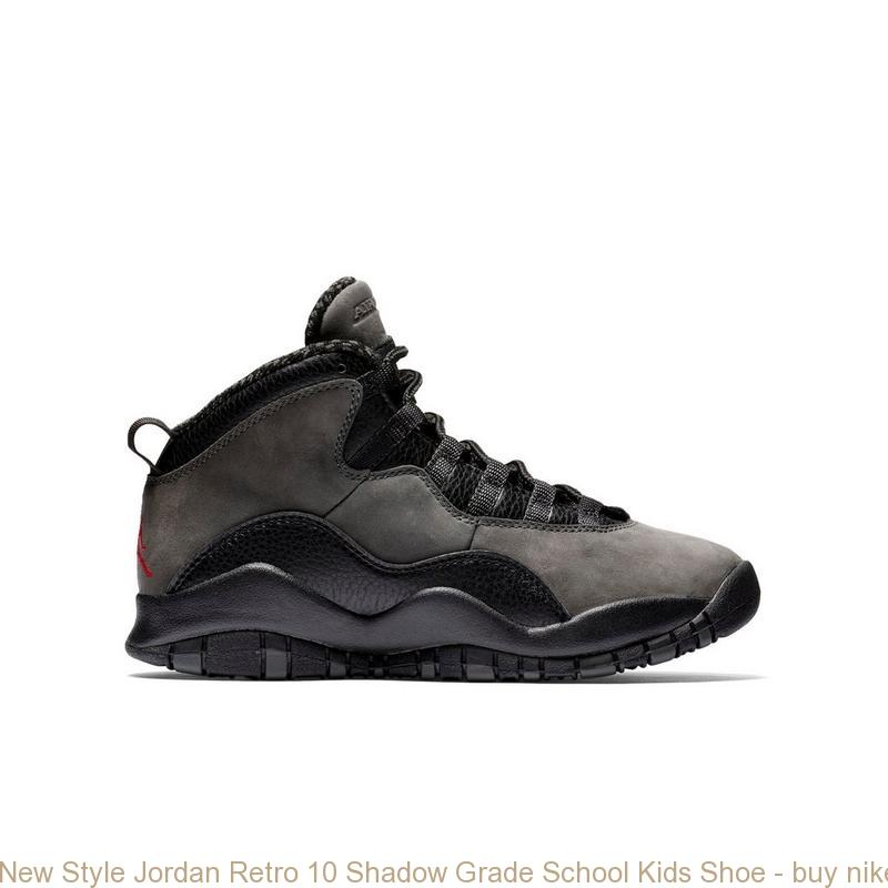 New Style Jordan Retro 10 Shadow Grade School Kids Shoe , buy nike shoes  near me , R0190SH