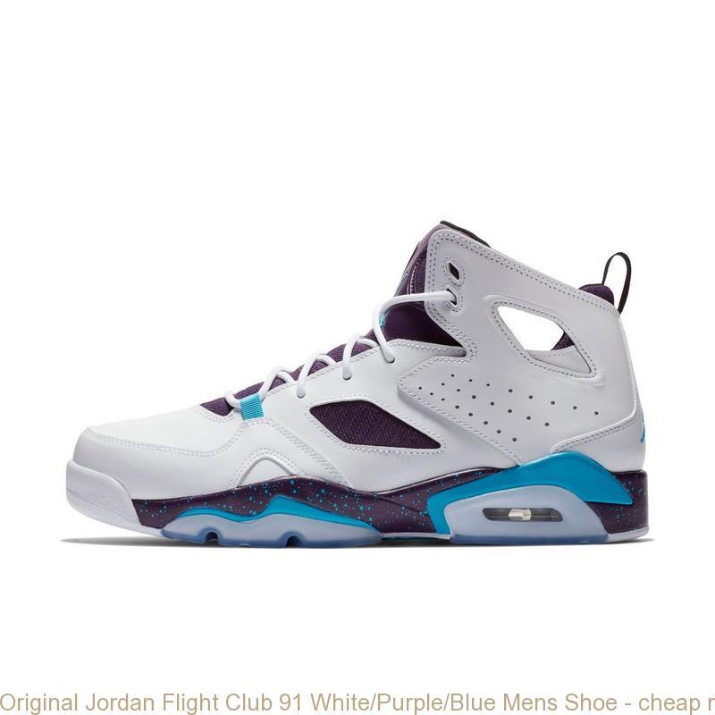 san francisco 99c9b aac2f Original Jordan Flight Club 91 White/Purple/Blue Mens Shoe - cheap nike  shoes for baby girl - Q0110