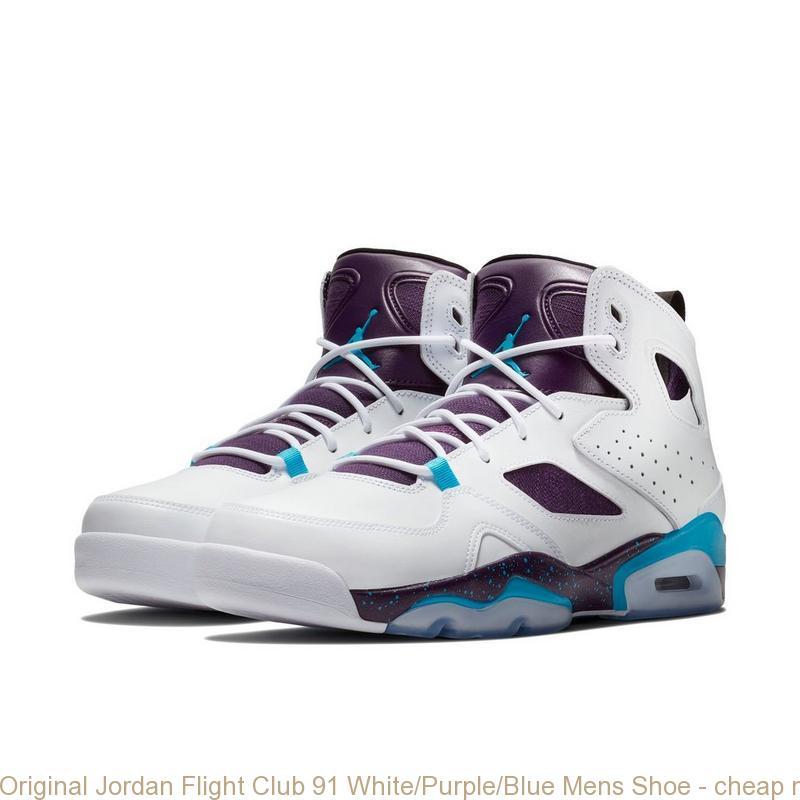 san francisco ea126 be690 Original Jordan Flight Club 91 White/Purple/Blue Mens Shoe - cheap nike  shoes for baby girl - Q0110
