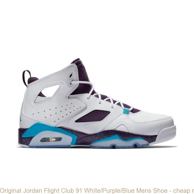 san francisco 04fd0 dc86a Original Jordan Flight Club 91 White/Purple/Blue Mens Shoe - cheap nike  shoes for baby girl - Q0110