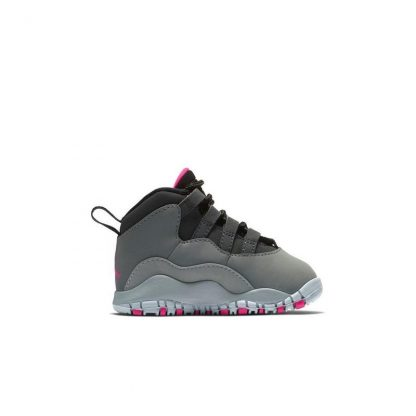 wholesale dealer 64985 59a3e Paris Jordan 10 Retro Smoke Grey Rush Pink Toddler Girls Shoe – cheap ...