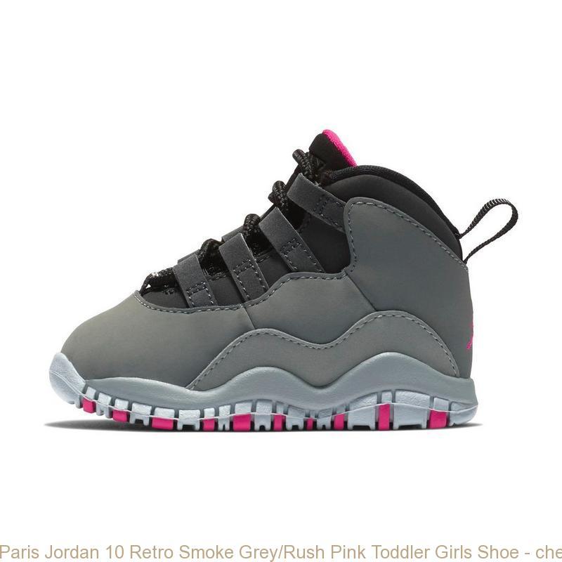 low priced 8caeb 95b1d Paris Jordan 10 Retro Smoke Grey/Rush Pink Toddler Girls Shoe - cheap  jordan retro 5 shoes - S0373