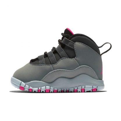 low priced 6fed5 a7134 Paris Jordan 10 Retro Smoke Grey/Rush Pink Toddler Girls Shoe - cheap  jordan retro 5 shoes - S0373