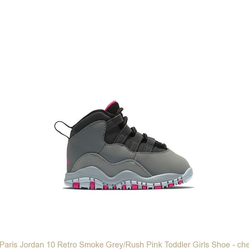 Paris Jordan 10 Retro Smoke Grey Rush Pink Toddler Girls Shoe ... b56deae94