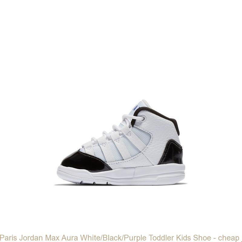 new style 99156 06d45 Paris Jordan Max Aura White/Black/Purple Toddler Kids Shoe - cheap  jordans.org - R0405