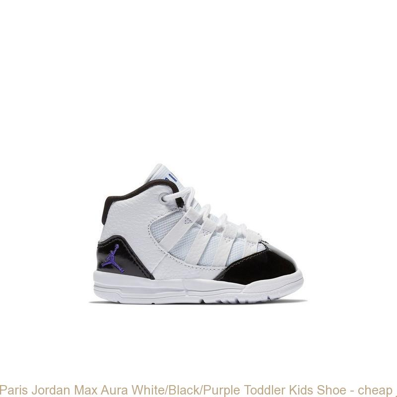 new style ecf9f 4c35b Paris Jordan Max Aura White/Black/Purple Toddler Kids Shoe - cheap  jordans.org - R0405