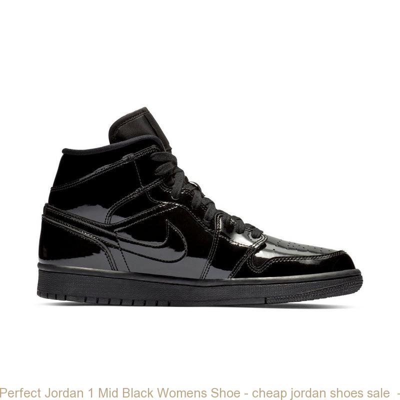 Perfect Jordan 1 Mid Black Womens Shoe – cheap jordan shoes sale ... fd4c88976