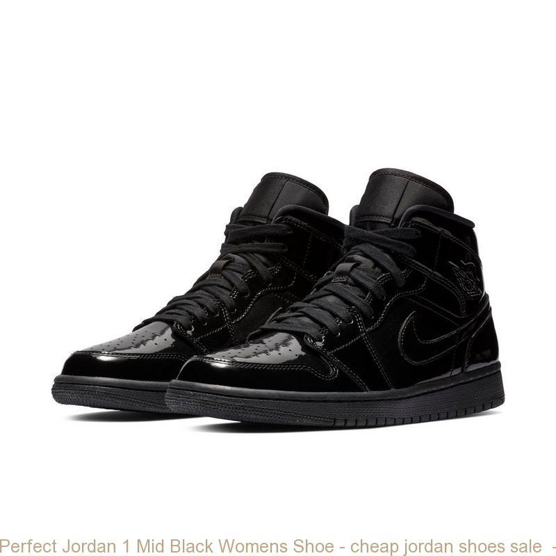 Perfect Jordan 1 Mid Black Womens Shoe – cheap jordan shoes sale ... dc3f51d26b
