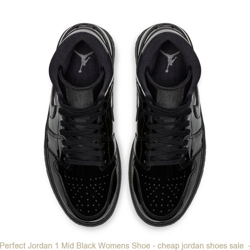 Perfect Jordan 1 Mid Black Womens Shoe