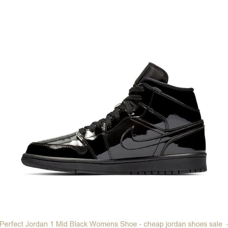 Perfect Jordan 1 Mid Black Womens Shoe – cheap jordan shoes sale ... cf3ce99b9