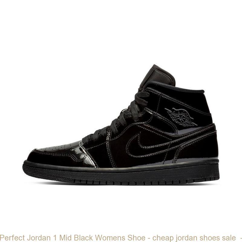 Perfect Jordan 1 Mid Black Womens Shoe – cheap jordan shoes sale ... 092d58632