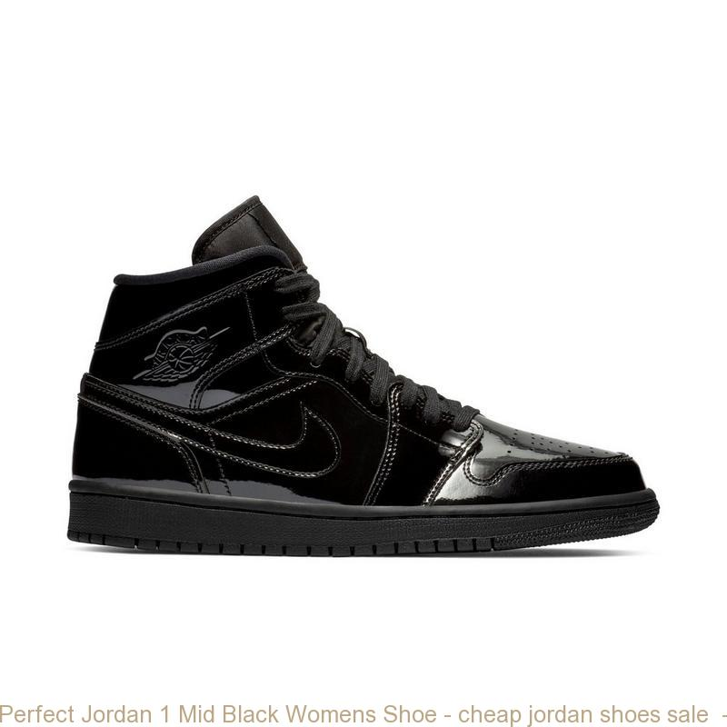 Perfect Jordan 1 Mid Black Womens Shoe – cheap jordan shoes sale ... e77d1b25a