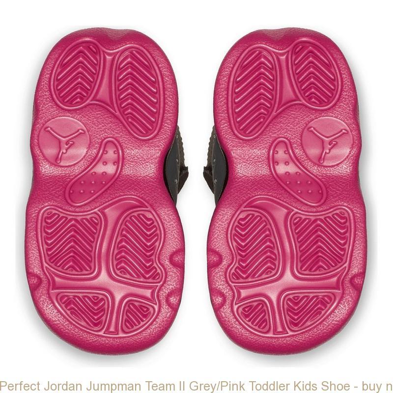 reputable site b5f91 54631 Perfect Jordan Jumpman Team II Grey/Pink Toddler Kids Shoe - buy nike  playstation shoes - S0380
