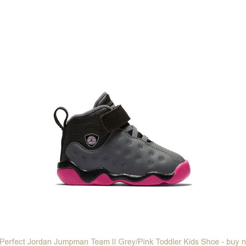 8d77851ab350e0 Perfect Jordan Jumpman Team II Grey Pink Toddler Kids Shoe – buy ...