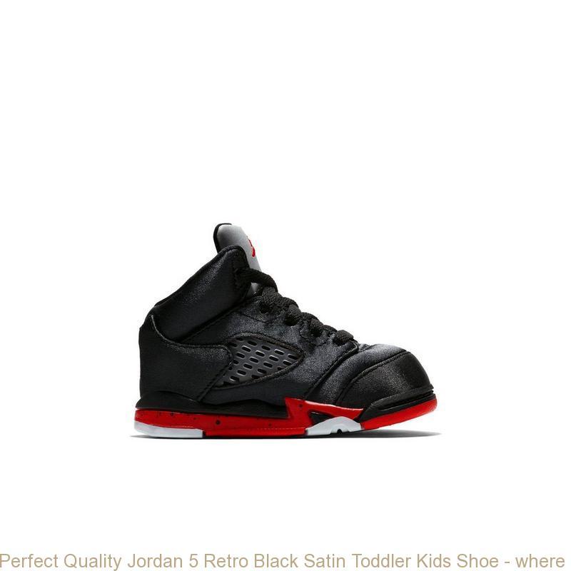 quality design 3a0b4 969fb Perfect Quality Jordan 5 Retro Black Satin Toddler Kids Shoe - where to buy  cheap air jordans - R0250