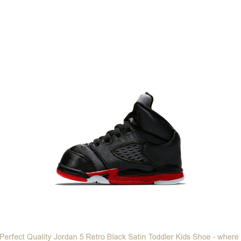 quality design 8b7ba 7c19f Perfect Quality Jordan 5 Retro Black Satin Toddler Kids Shoe - where to buy  cheap air jordans - R0250