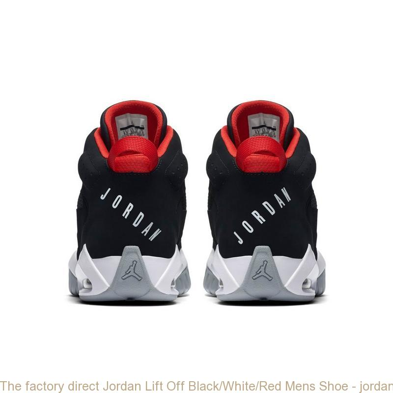 68763959eae2 The factory direct Jordan Lift Off Black White Red Mens Shoe ...